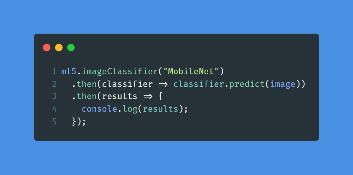 Machine Learning with 5 Lines of JavaScript