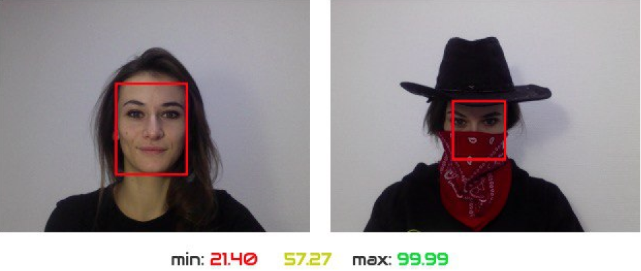 SVORT recognizes users in masks and hat