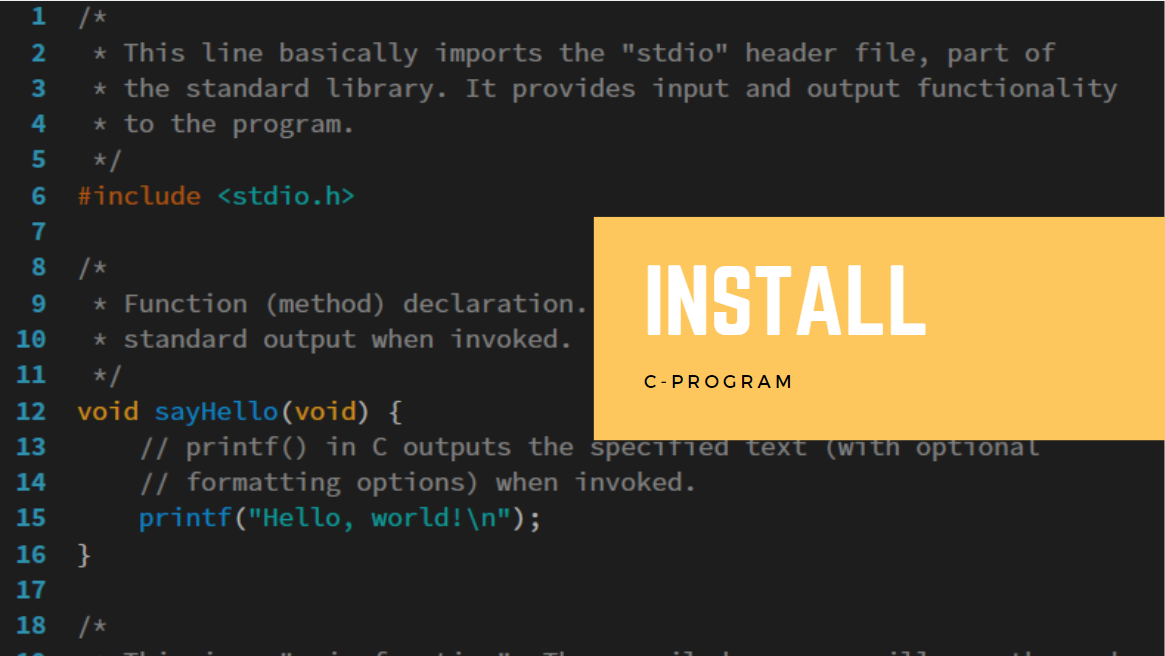 How To Install The C-Programming Language On Windows