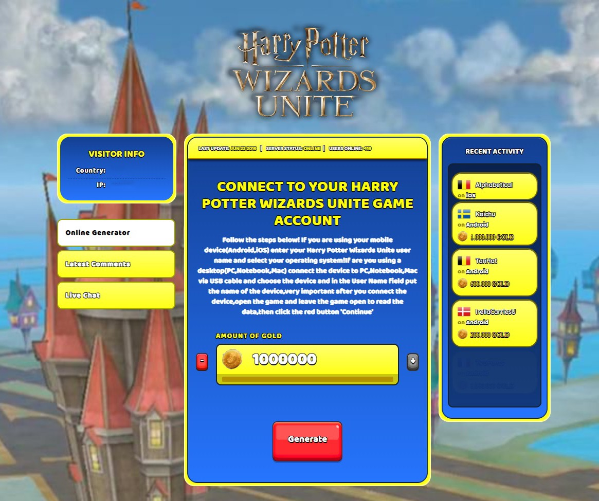 Harry Potter Wizards Unite Cheats new trick to hack gold