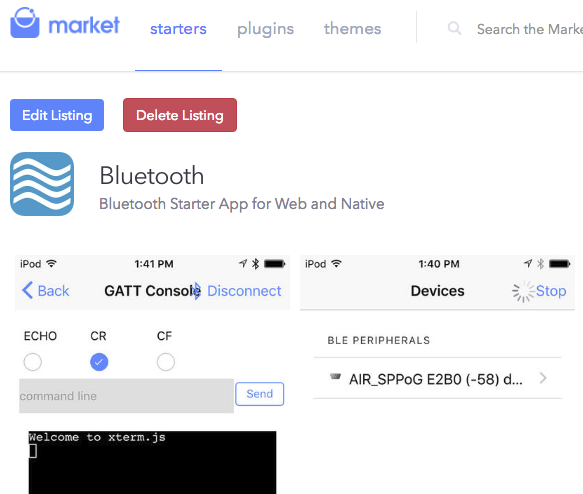Lessons learned from Implementing a Hybrid Bluetooth App