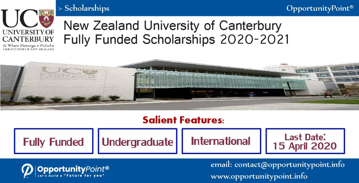 New Zealand Fully Funded International Scholarships 2020–2021