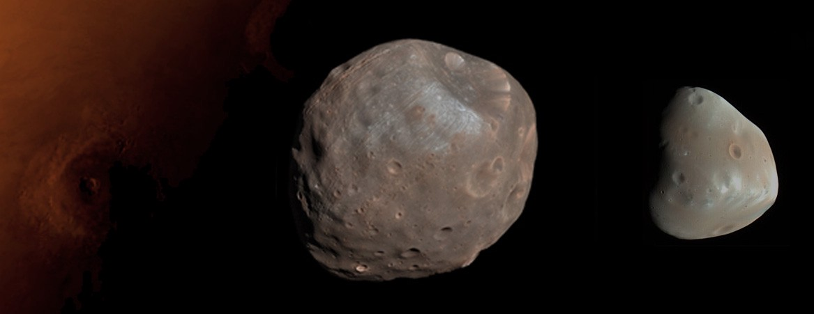 Phobos and Deimos Moons