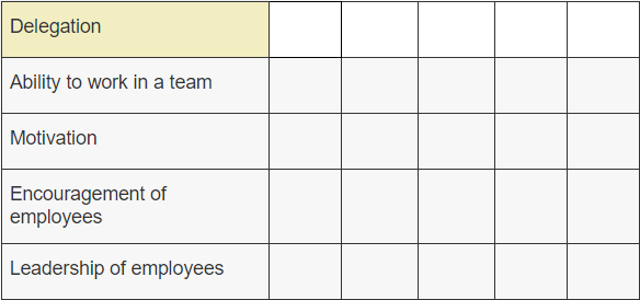 self assessment form for employees