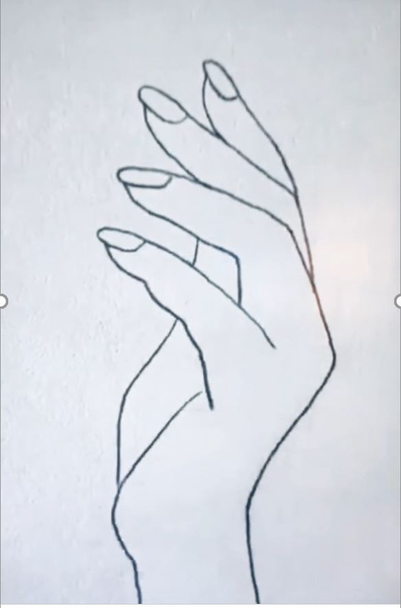 Pencil drawing of a hand