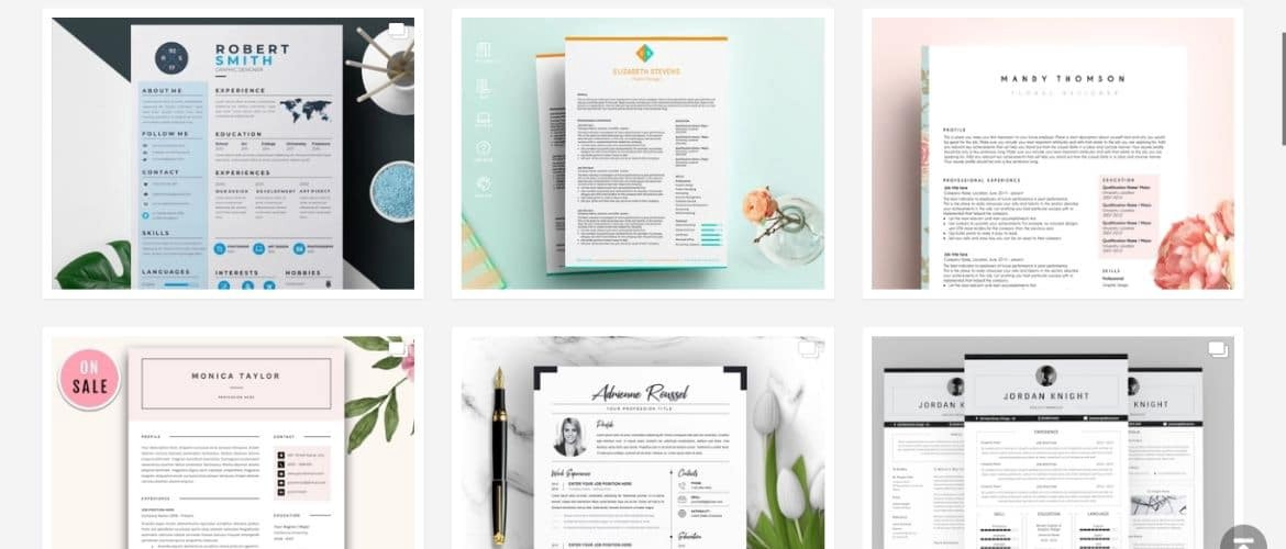 15 Free Most Beautiful Resume Templates For Designers By Jae