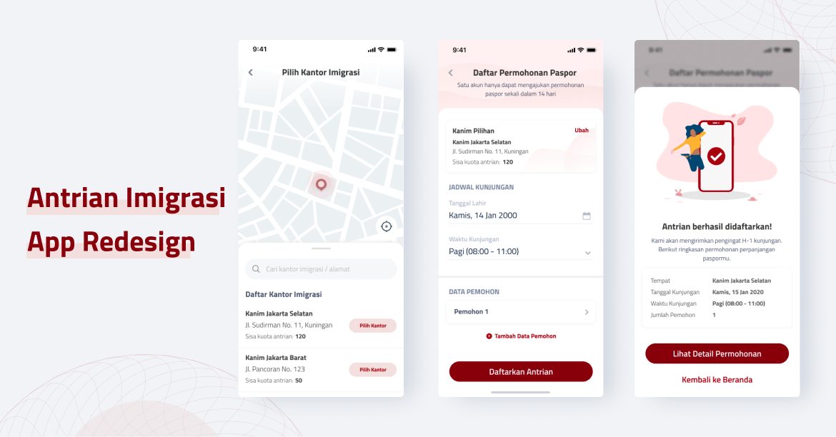 Antrian Imigrasi Online? Helpful or Painful?—A UX Case Study