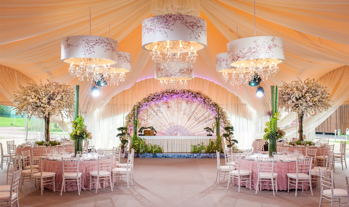 Wedding Ceiling Drapes With Lights Add Stars To Your Event By Prestige Linens Medium