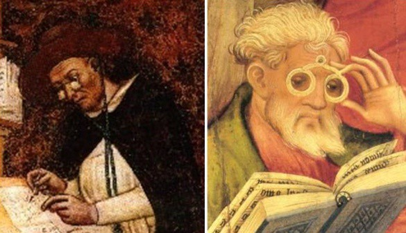 The first eyeglasses
