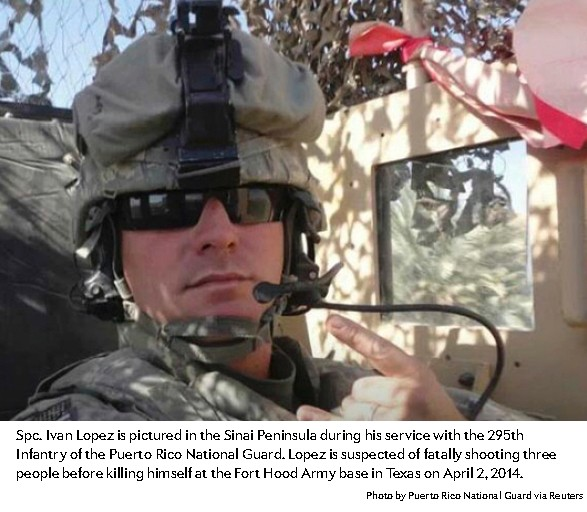 IMAGE of Army Specialist Ivan Lopez. He killed 3 of his fellow soldiers