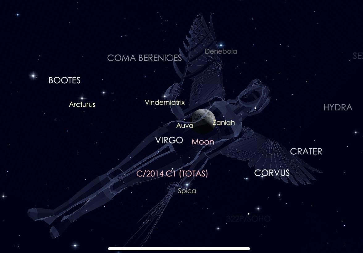 Lovely Luna in Evening, Saturn Shines at Maximum, and