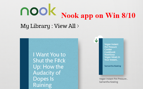 my nook book didn t download