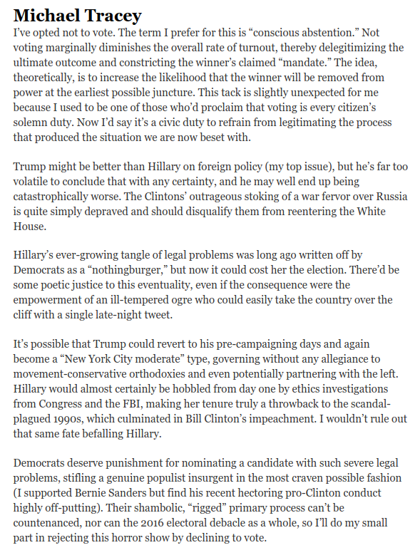 Why Voting For Hillary Is Morally Untenable - mtracey - Medium