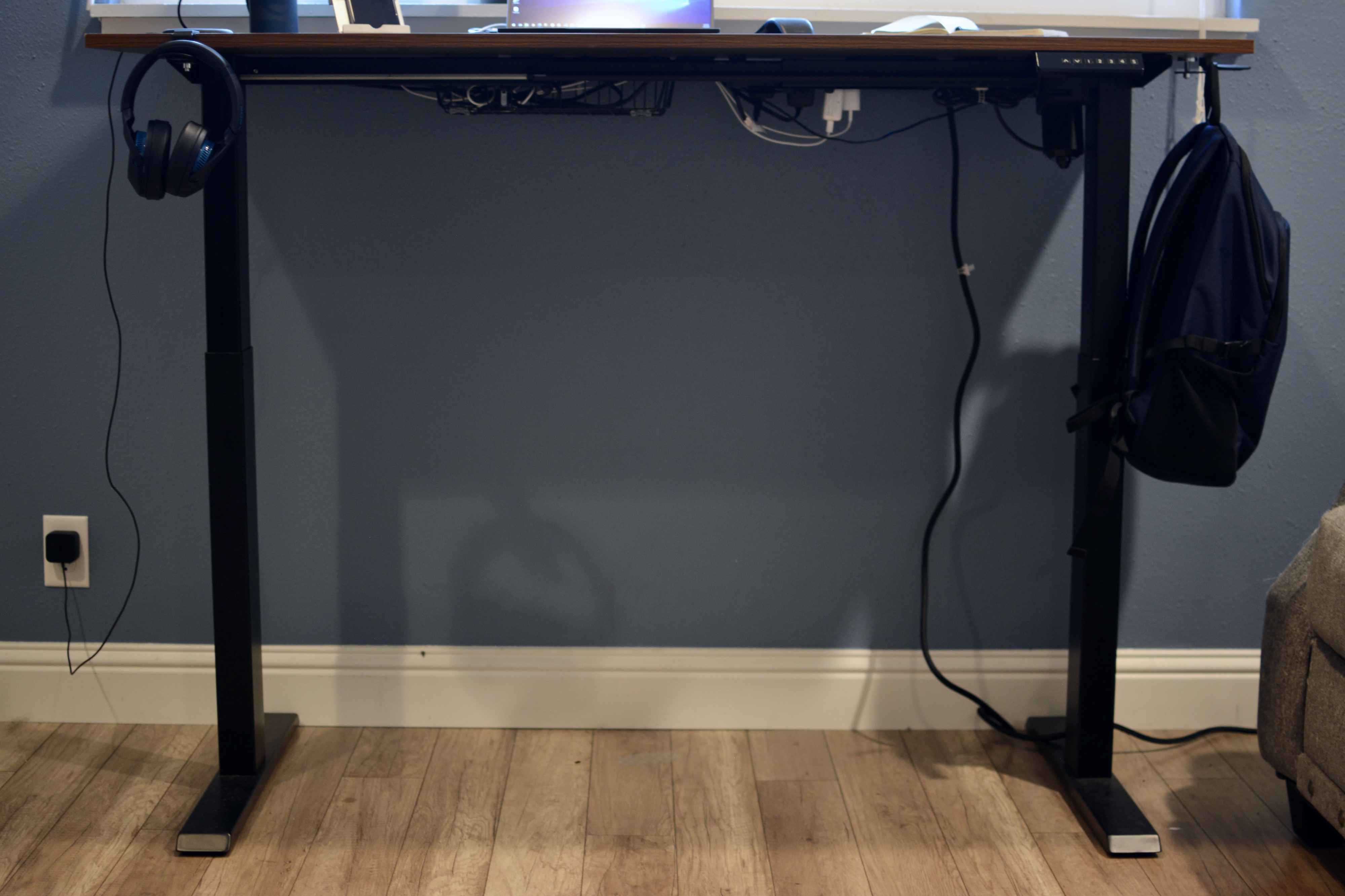 Front View of the TechOrbits Electric Standing Desk