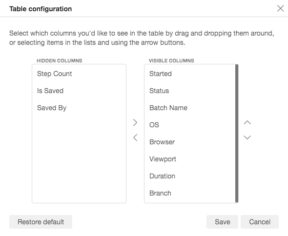 Customize your visual testing workspace with the Applitools Table Configuration Manager