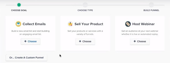 Funnel Goal Options - ClickFunnels Review