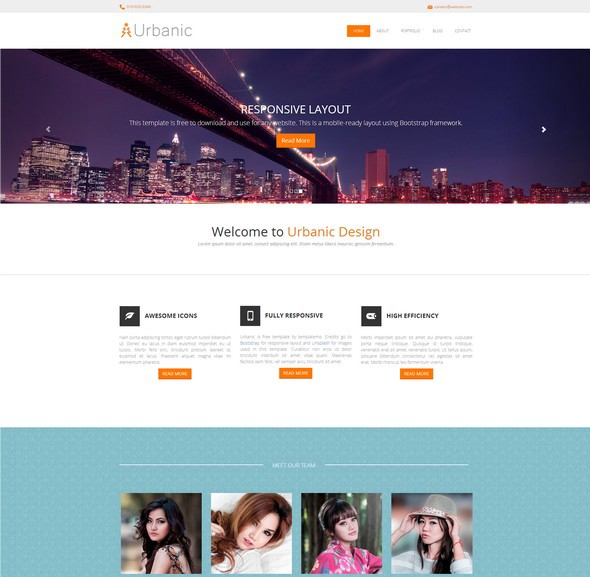Free Responsive Html5 Css3 Website Templates Level Up
