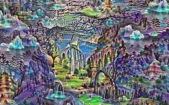 Another deep dream example that looks like a purple abstract painting