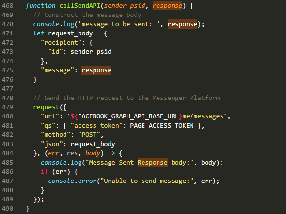 Part 2 — Chatbot webhook backend with Facebook Api and MongoDB