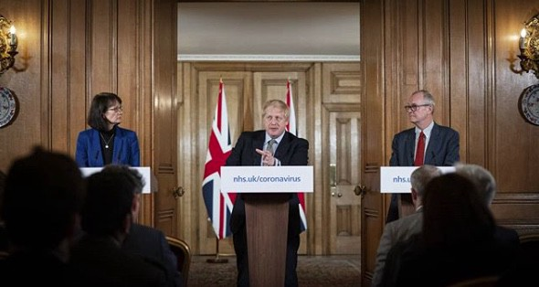 Government press briefing at №10 Downing Street.