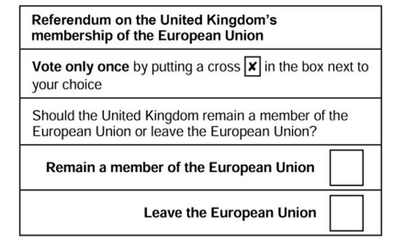 Image result for brexit ballot