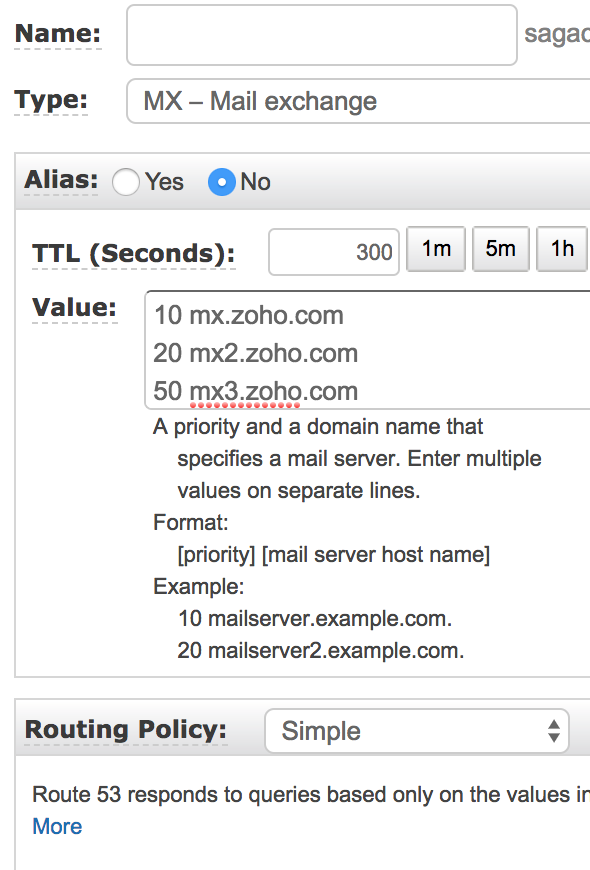 Configuring Emails For Your Domain (Acquired from AWS