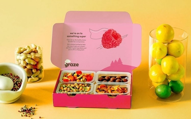 Graze sells snacks direct-to-consumer on a reccuring revenue basis (source: Graze)