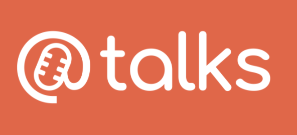 @talks logo, where the @sign looks like a microphone.
