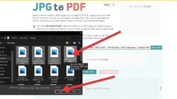 image to pdf by ajayvarma.in