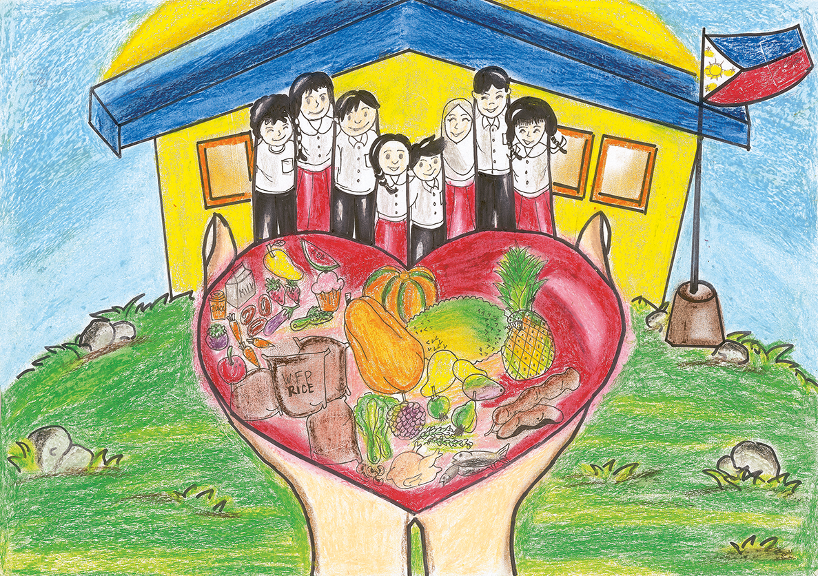 I Drew A Heart That Was Filled With Food And Smiling Children At School By Peyvand Khorsandi World Food Programme Insight