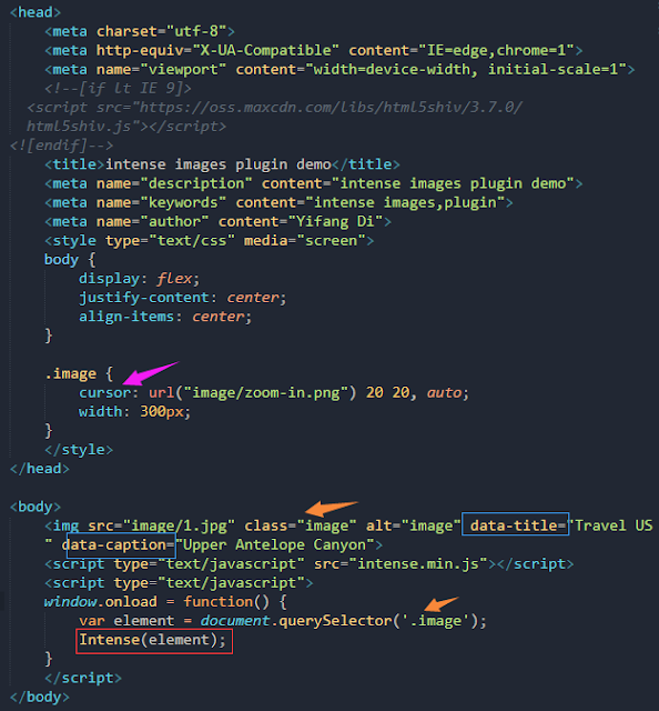 Two plugins to zoom in images:intense-images js and zooming js