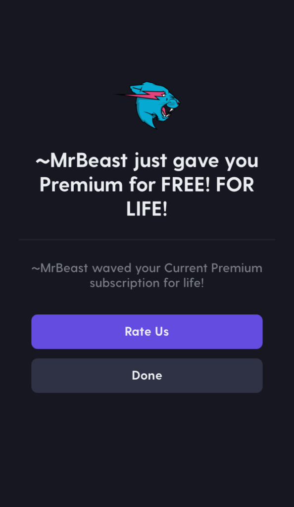 MrBeast just gave you Premium for Free! for Live!