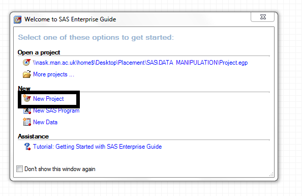 Introduction to data analysis with SAS Enterprise Guide