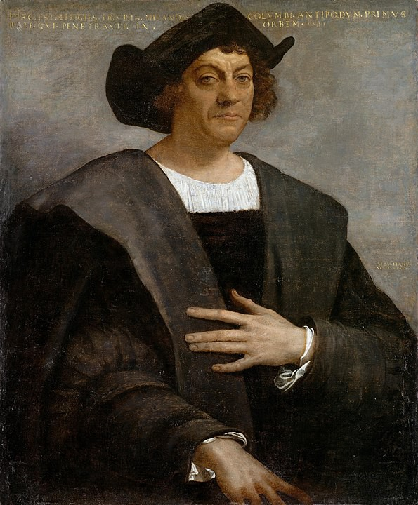 A painting of Christopher Columbus