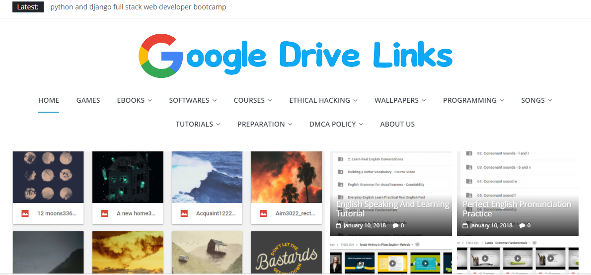 Google Drive : For Programming Udemy Courses And Hacking 10