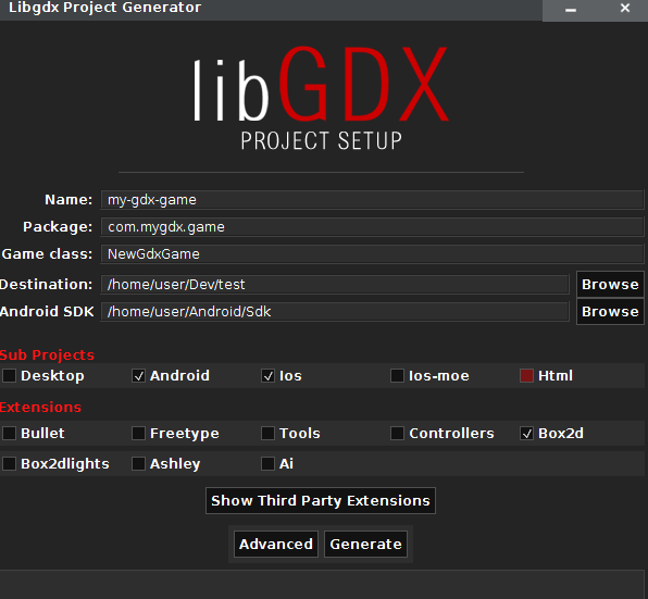 Creating Android Game From Scratch With LibGDX(box2d)