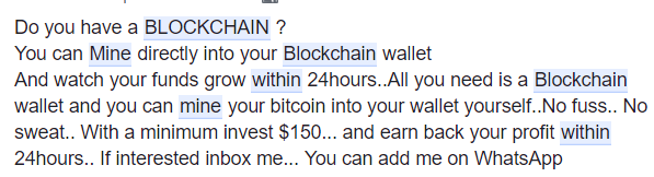 Should I give my Blockchain Private key and Password to someone for