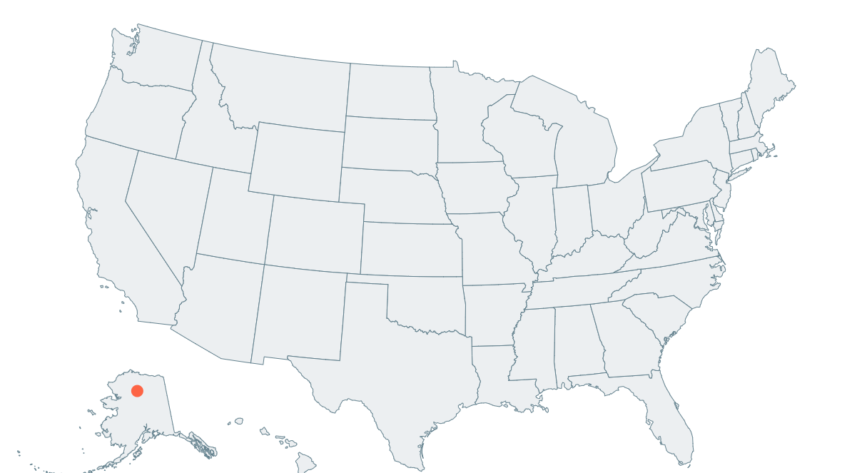 Simple Map Of Us Rendering the US with React Simple Maps | by August Giles | Medium