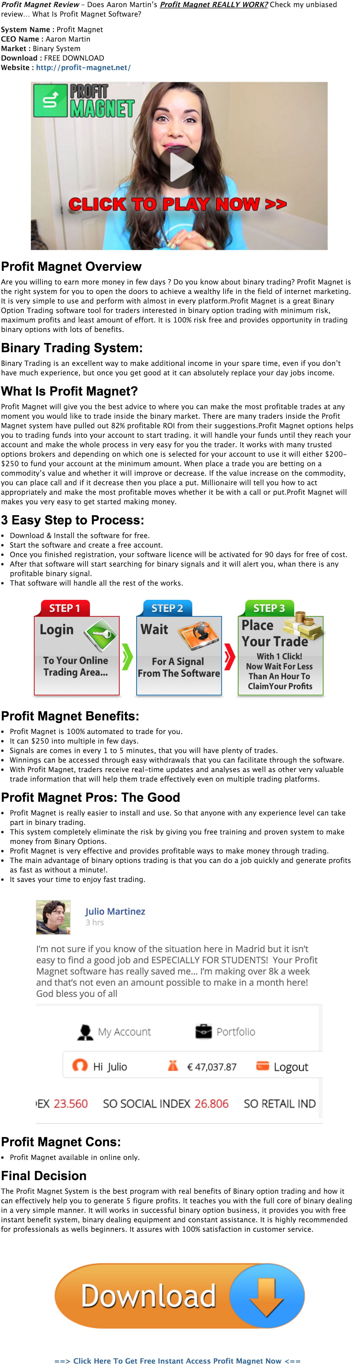 binary options magnet scams on the internet