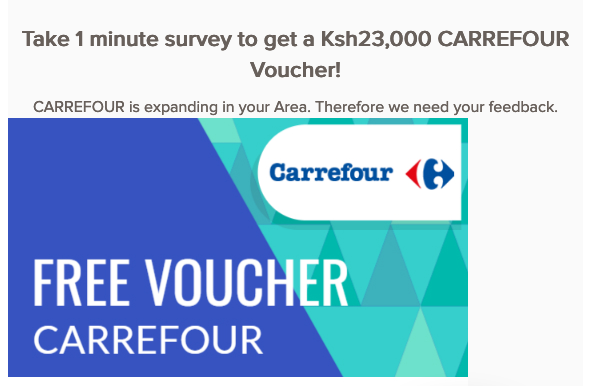 HOAX: This site offering shopping vouchers from Carrefour is a scam | by  PesaCheck | PesaCheck