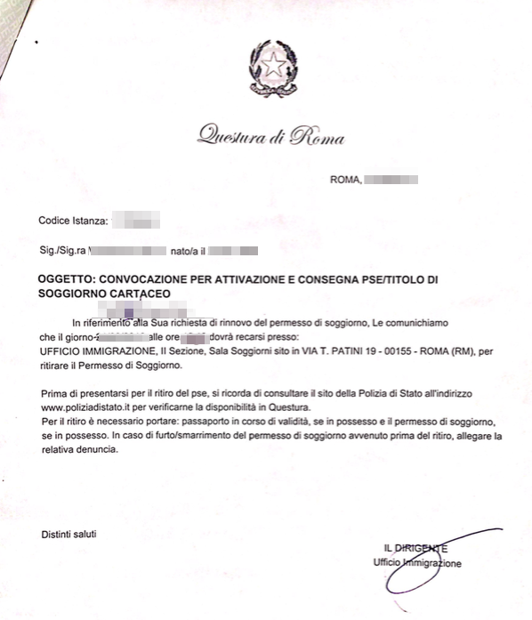 How to obtain Italian Permesso di soggiorno — permission for ...