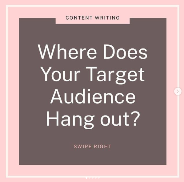 Where does your target audience hang out?