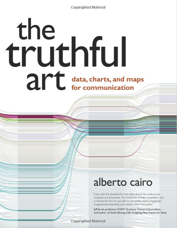The cover of The Truthful Art by Alberto Cairo