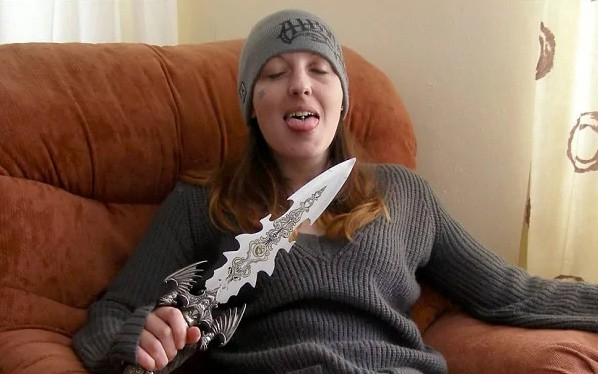 Joanna Dennehy poses for a photograph with a knife shortly after some of the murders.