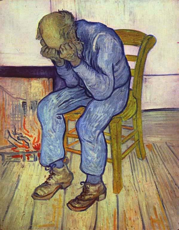 At Eternity's gate by Vincent Van Gogh, sourced from vincentvangogh.org