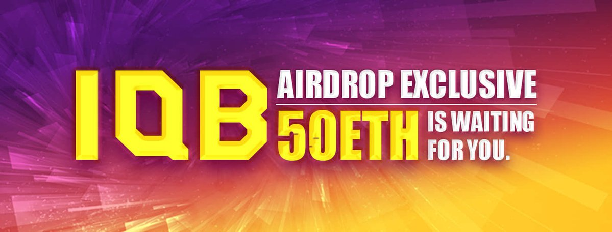 Iqb App Offers 50eth Airdrop Jackpots Starting From May 20th