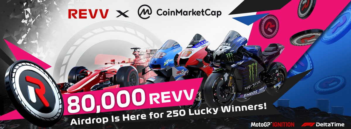 REVV Motorsport partners with CoinMarketCap to give out 80,000 REVV