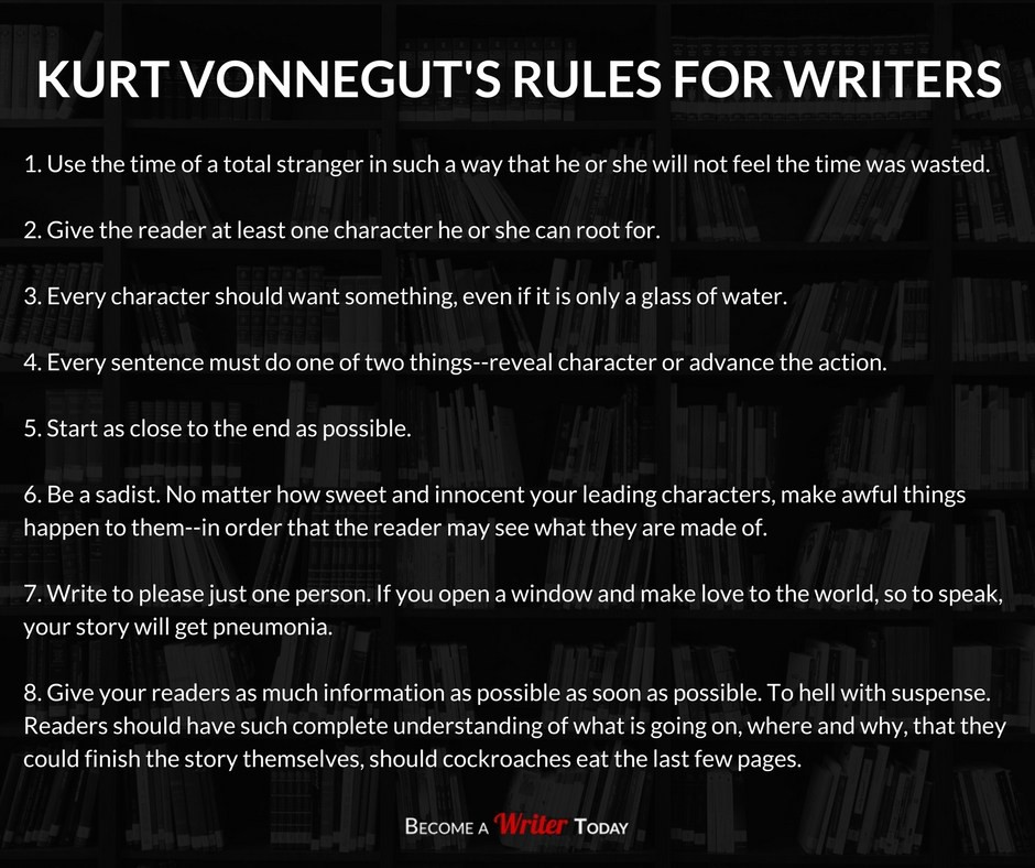 Kurt Vonnegut's Rules for Writers - The Writing Cooperative