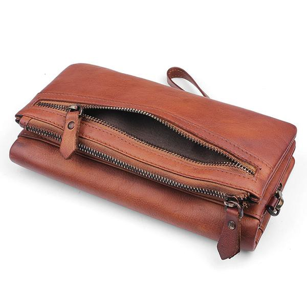 56fe50b8932a A cheap long leather wallet is hard to found especially when you are  looking for a vintage style long leather wallet as they as expensive due to  their ...