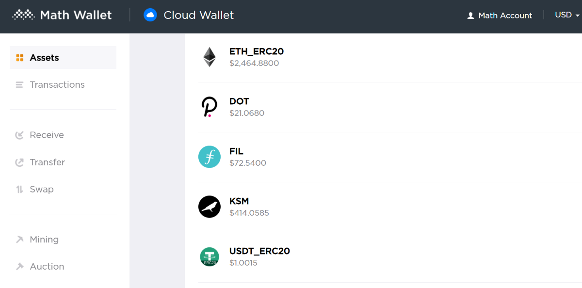 How to participate in the Parachain Crowdloan in MathWallet Web Wallet